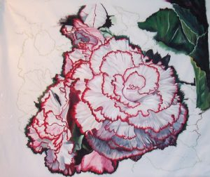 Featured in the American Quilt Art Calendar 2012 painting--getting there: